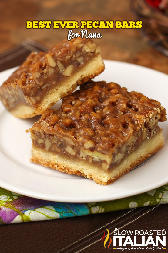 The Best Ever Pecan Bars for Nana ⊱ ⊰