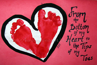 Footprint Heart Grandparent's Day Card