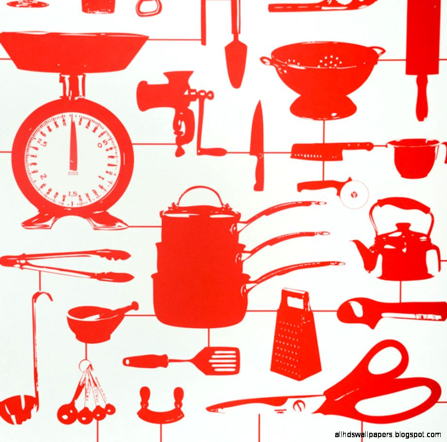 HOMEWARE  Wallpaper  Airfix Kitchen Wallpaper Red