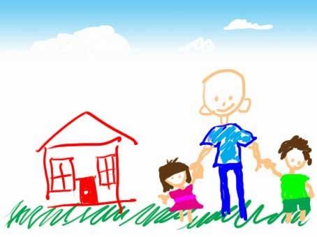 Τα μικρά παιδιά ζωγραφίζουν τον χωρισμό των γονιών τους