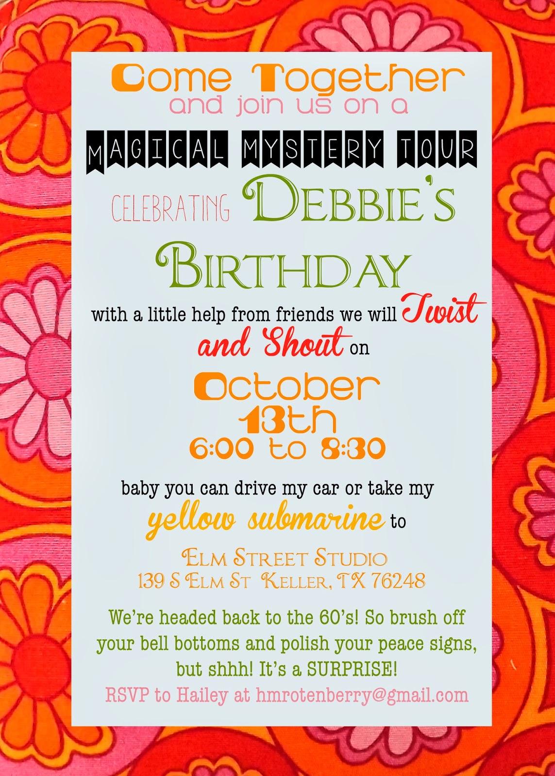 Hailey Berry : Mom\'s Groovy 60\'s Birthday Bash