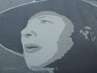 Bogart and Bergman Mural - Fremont