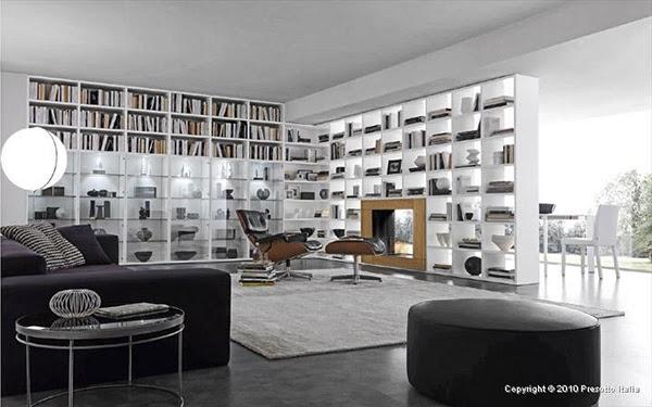 Interior Design: Bookcase Design Ideas for 2010 by Presotto Italia