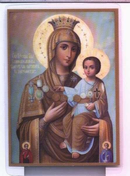 "Icon of Holy Mother ""Lacoskitiotissa"", Mount Athos, Skete of St.Dimitrios-Lacu"