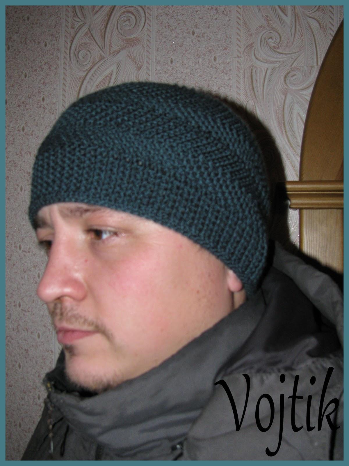 Шапки спицами для мужчин фото и схемы