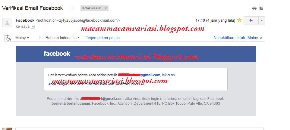 notifikasi facebook