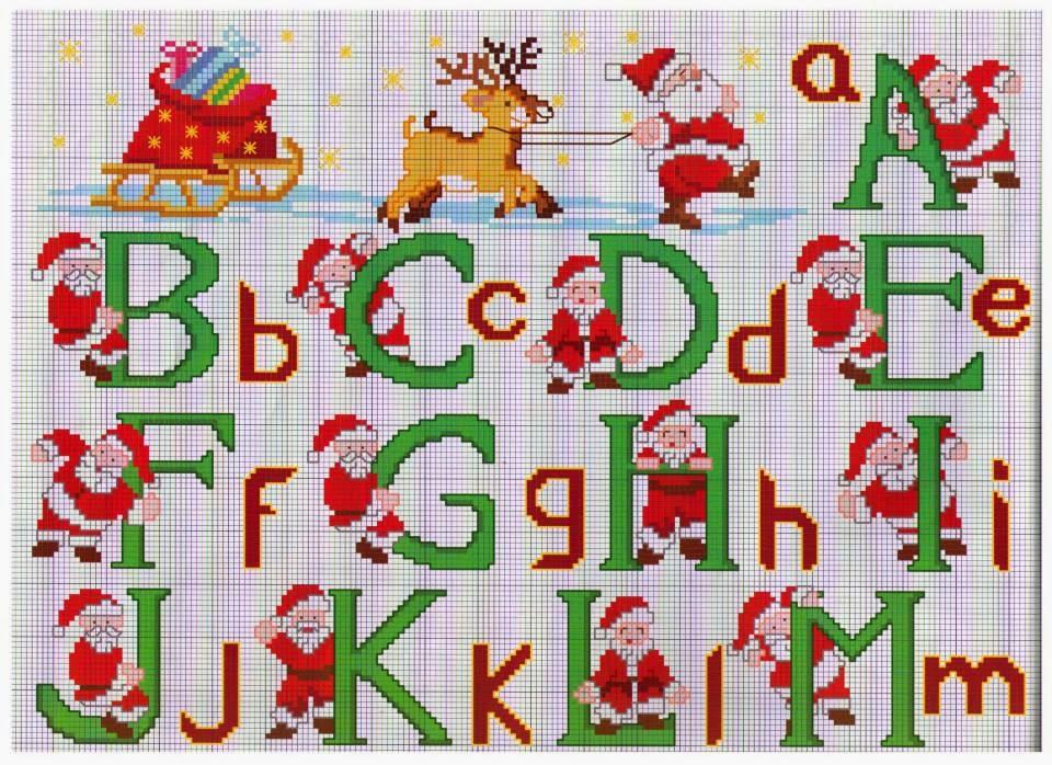 Punto croce per i bambini la mia passione alfabeti for Alfabeti a punto croce per bambini