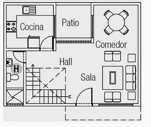 Planos casas modernas abril 2014 for Planos de cocina sala comedor