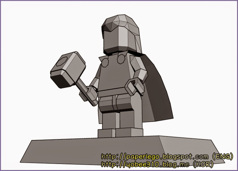 Design of Lego Thor Papercraft