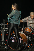 Victoria Justice wearing tight pants  at the Gibson Amphitheatre  in Universal City