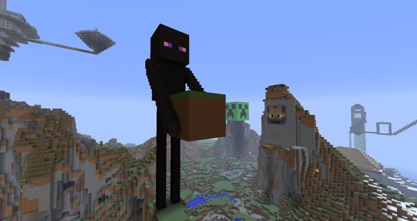 Minecraft Enderman Pixel Art