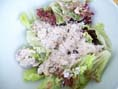 rezept vegan - Salat mit Nussaufstrich