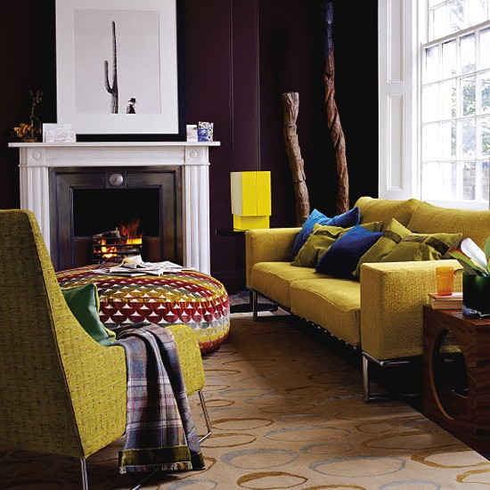 Images Of Living Rooms With Mustard Color Leather Sofas (8 Image)
