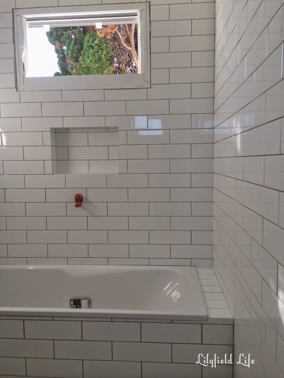 subway tiles still to be grouted