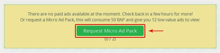Paidverts request micro ad pack