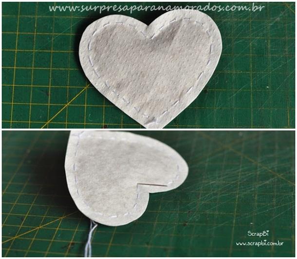 em forma de coração