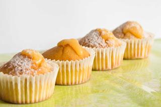Cupcakes de lemon curd y mascarpone