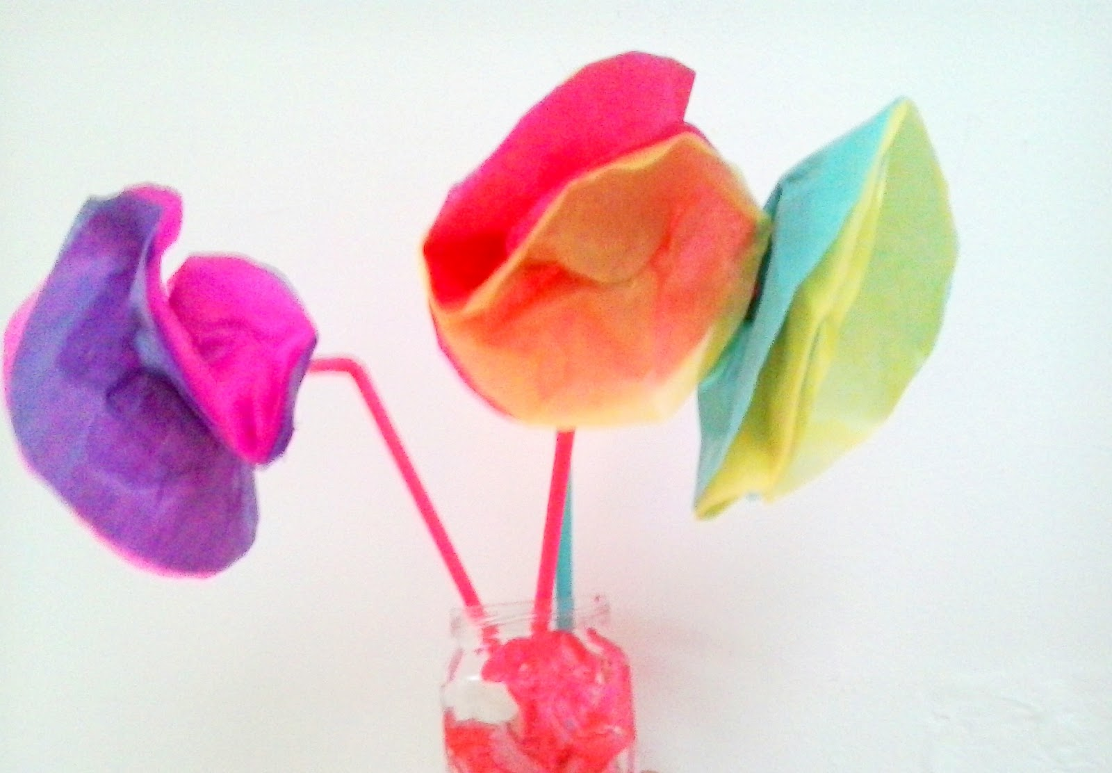 Why Not Brighten Up Someones Day By Handcrafting Some Cheap Cheerful Tissue Paper Flowers With The Kids These Colourful Are Easy Enough To Make