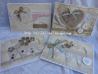 Shabby Chic Love Cards Stamp and Stack