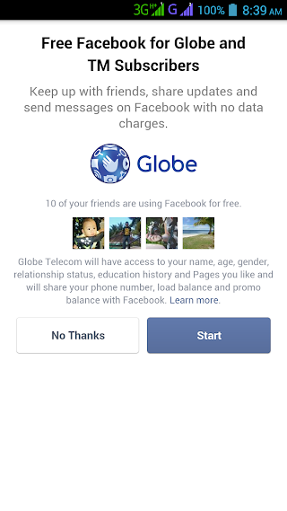Globe answered Smart FREE internet with unlimited Facebook browsing