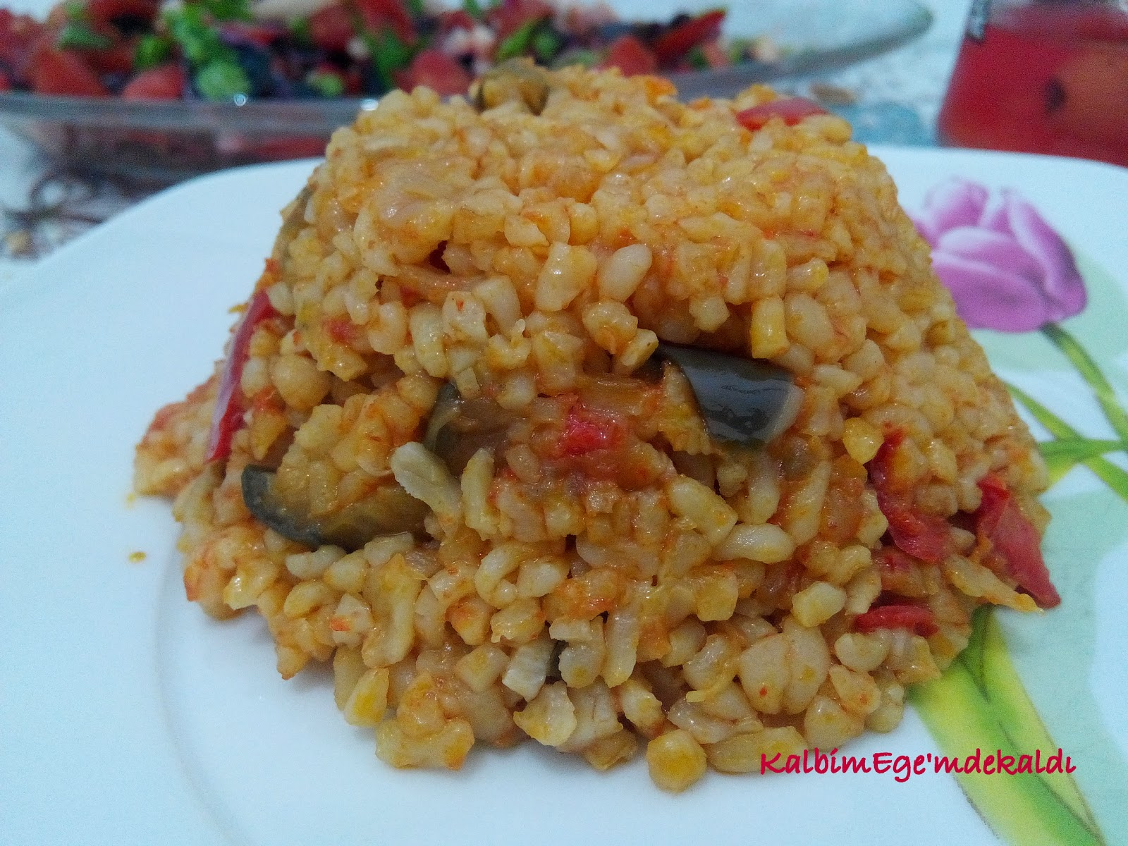 Patlıcanlı Bulgur Pilavı Tarifi – Pilav Tarifleri
