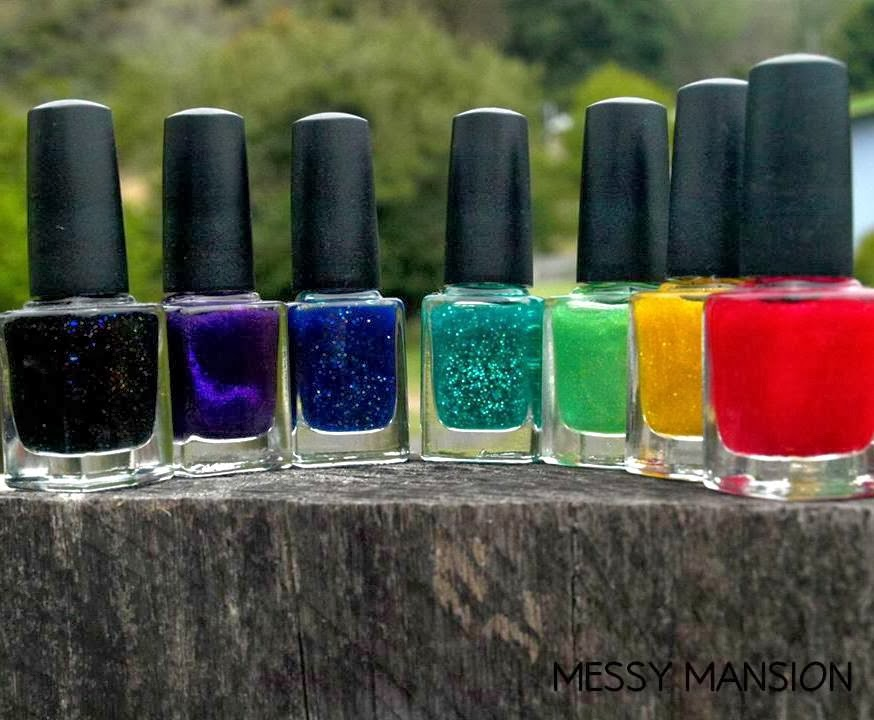 Lacquer Lockdown - Messy Mansion LeadLight Lacquers, stamping, decal method, advanced stamping