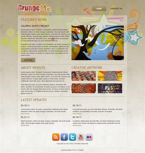 Grunge Me - Free Joomla! Template