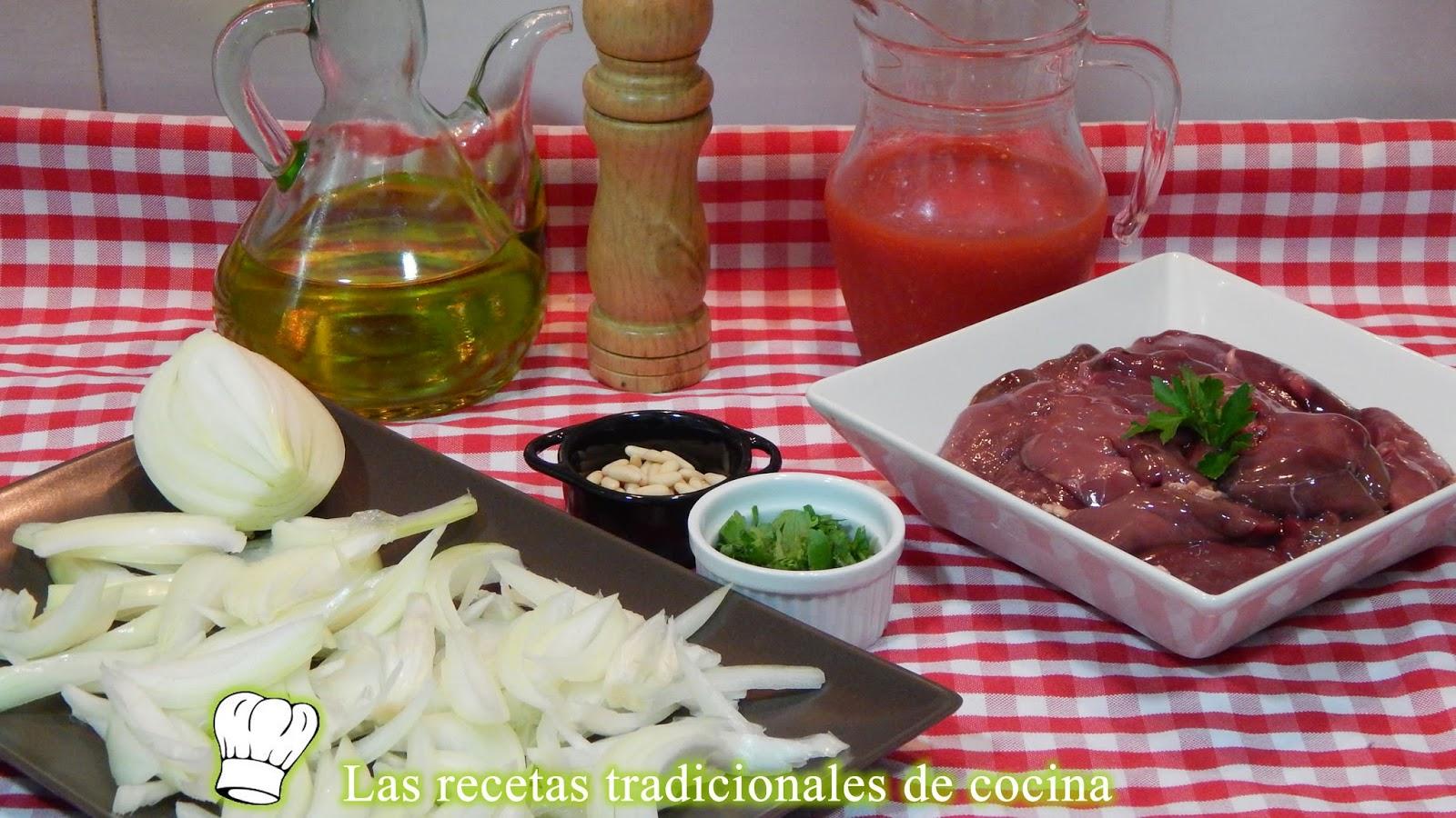 Receta de higaditos de pollo con tomate y cebolla