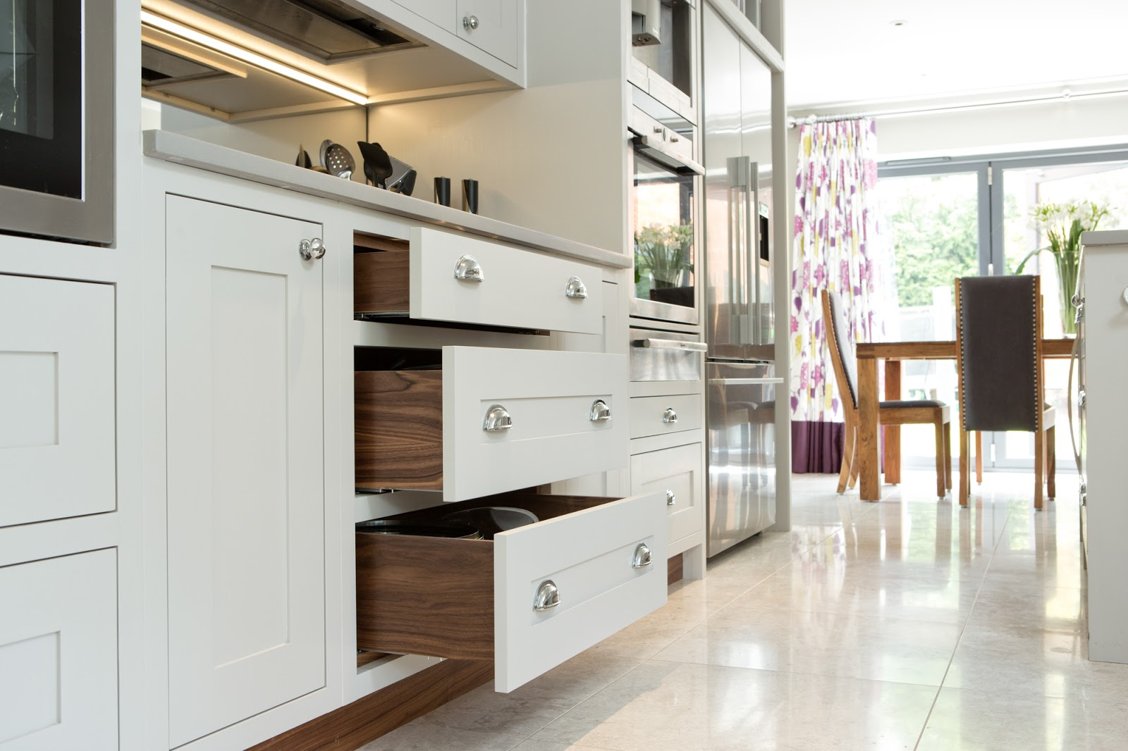 Maple Gray Cornforth White Shaker Kitchen