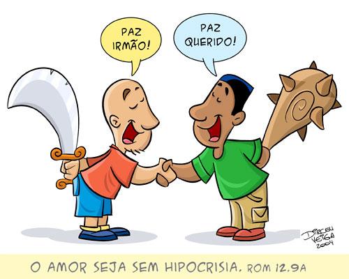 Portal Expressão Jovem: Charges Gospel, Humor Cristão, Amor sem hipocrisia - Romanos 12:9