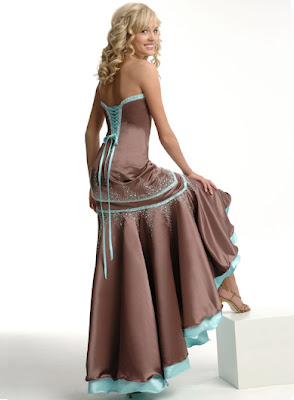 High+low+A-line+strapless+floor-length+evening+dress