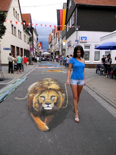 sidewalk art chalk - nikolaj arndt - 3d chalk paintings