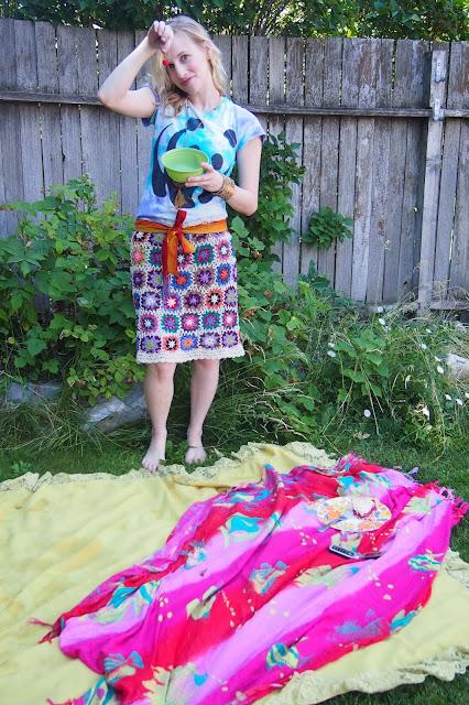 handmade+crochet+skirt - Crochet Skirt Review