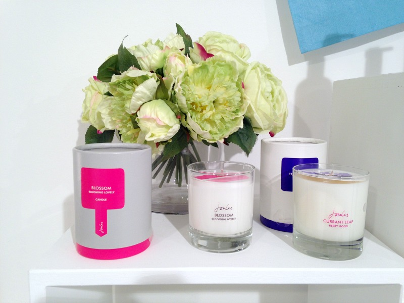 Joules scented candle and fragrances