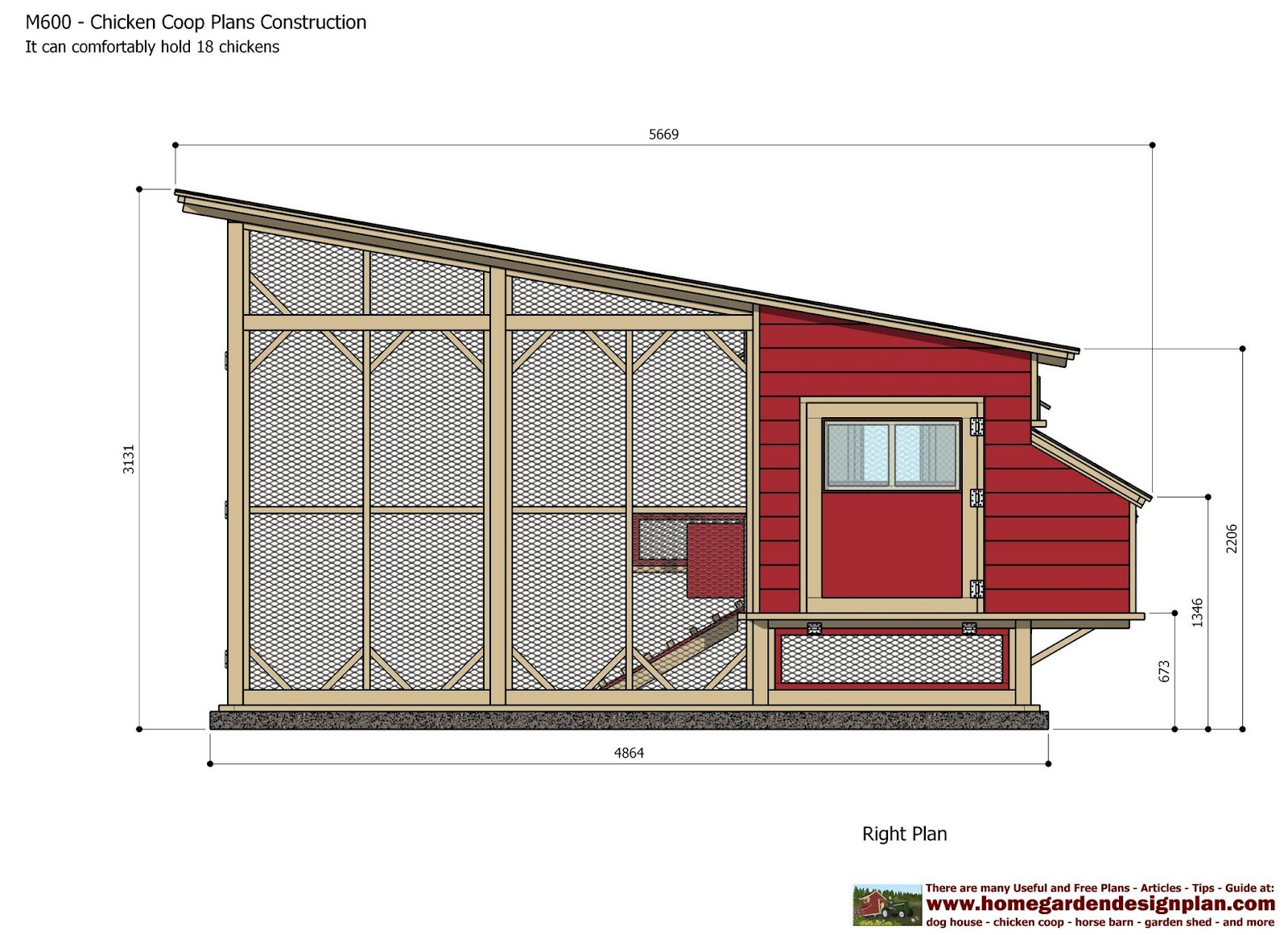 Chcken coop m600 chicken coop plans construction chicken for Plans for a chicken coop for 12 chickens