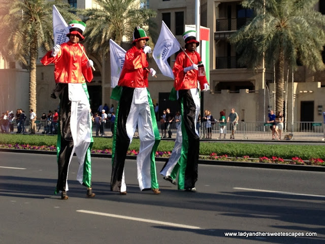 Men in stilts UAE Day