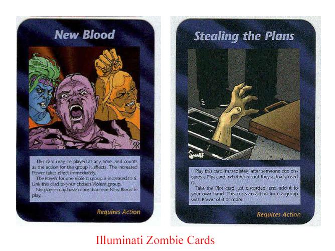 Illuminati card game shows latest zombie pigeons epidemic is