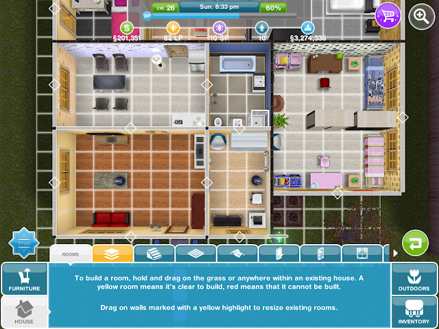 House layout sims freeplay house best design for Sims house layouts