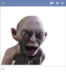 Gollum Emoticon for Facebook Chat