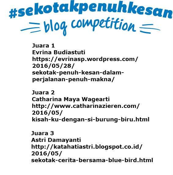 Juara 3 Lomba Blog Blue Bird Sekotak Penuh Kesan