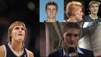 Cabelos ridiculo dos atletas