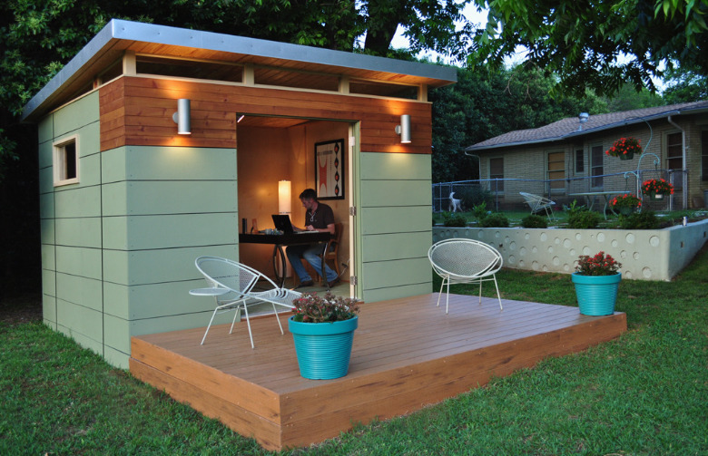 Prefabricated outdoor rooms maureen stevens for Prefabricated garden rooms