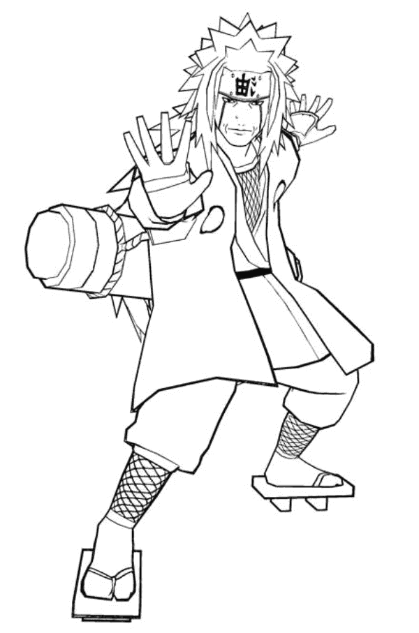 Sai weapon coloring pages coloring coloring pages for Jiraiya coloring pages