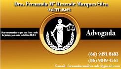 Dra. Fernanda Mª Rezende Marques Silva | OAB/PI 10693