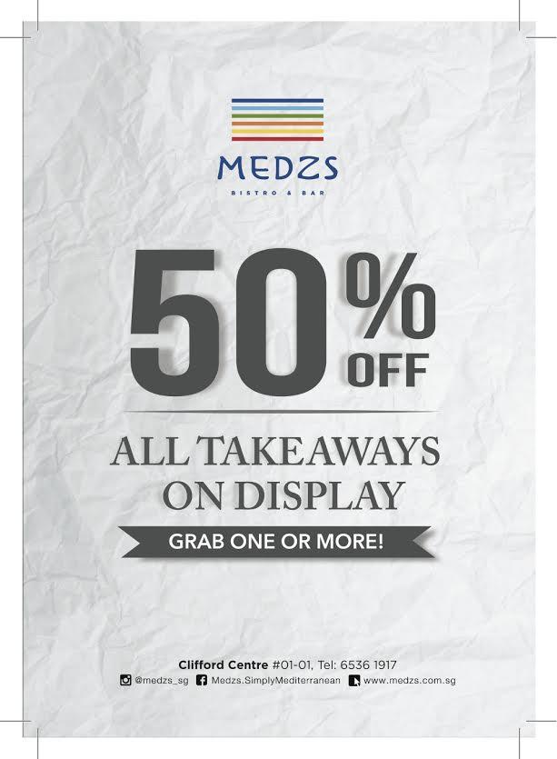 MEDZS Takeaway 50% Discount