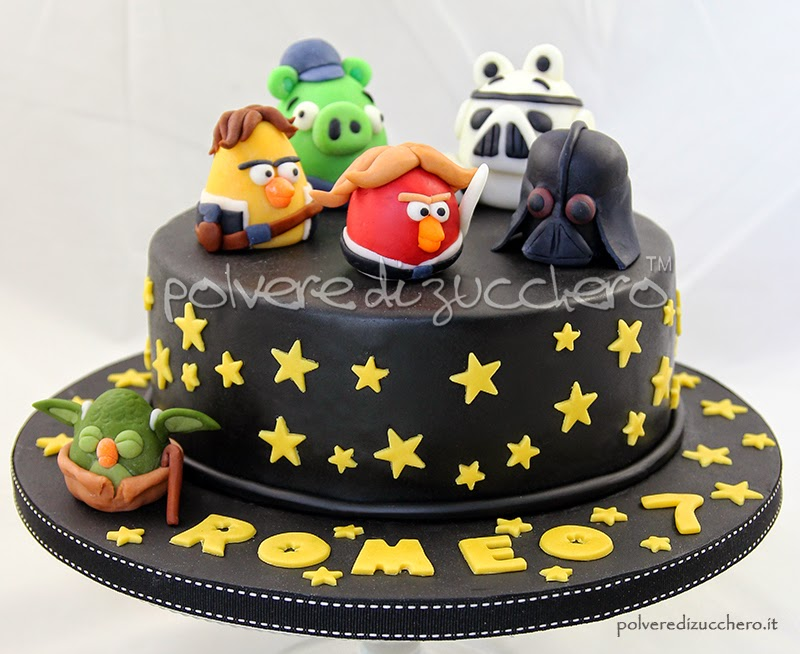 torta decorata: angry birds versione star wars