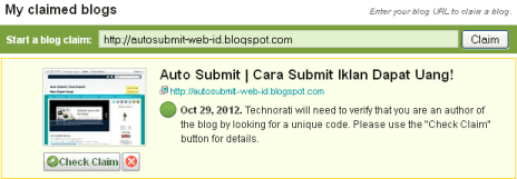 submit technocrati claimed blogs
