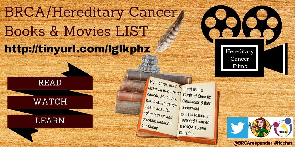 RESOURCE: BRCA/Hereditary Cancer BOOKS/MOVIES