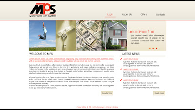 MPS webpage design