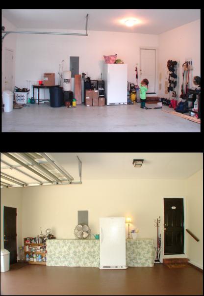 b e interiors garage reveal finally. Black Bedroom Furniture Sets. Home Design Ideas